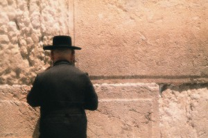Orthodox Jew Praying at the Western Wall