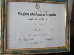 D.A.R. award